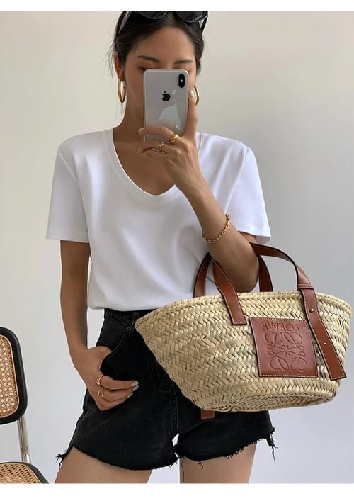 White T shirt women's summer 2021 new bottom shirt Loose Korean version versatile casual V-neck shor