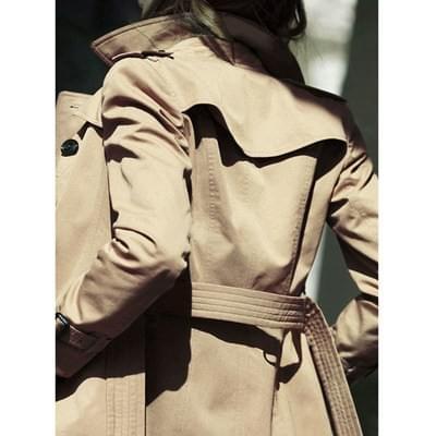 Khaki trench coat women spring and autumn long British ethos in 2021 new