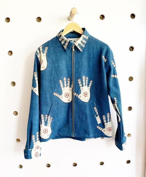 Zipper Jacket, Sushila Chhipa, Mehndi Print, © 2018, Mahila Print