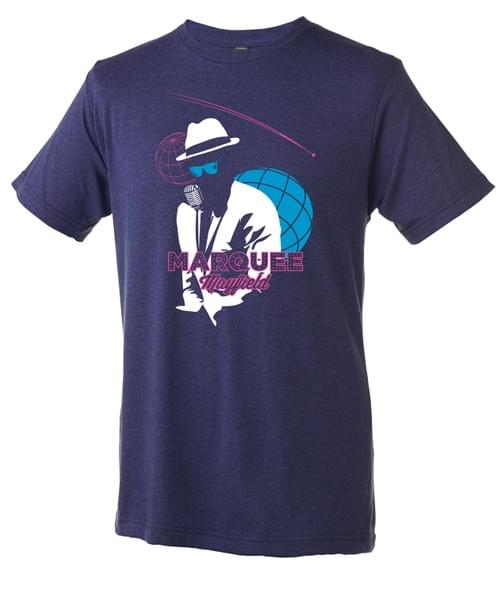 Marquee Silhouette unisex tee in midnight (dark blue/purple)