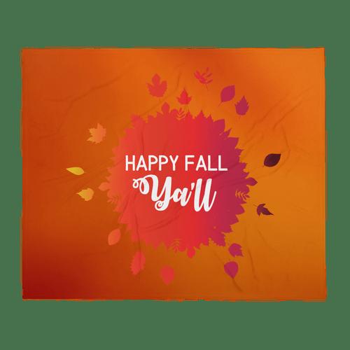 Happy Fall Ya'll Throw Blanket