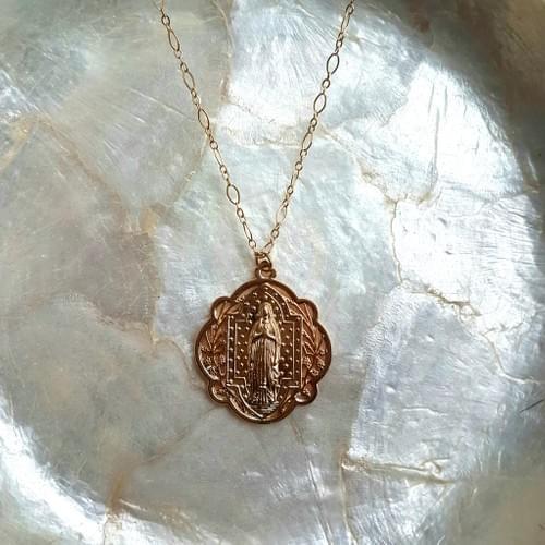 Collier médaille Vintage gold