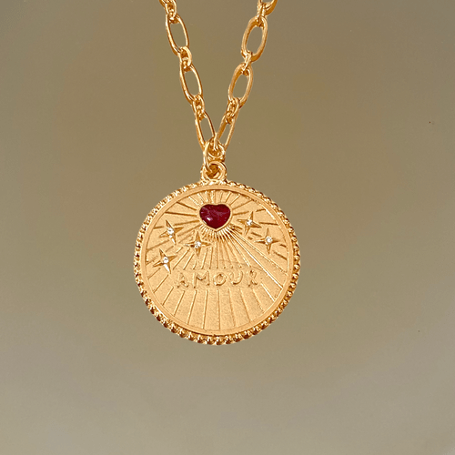Collier AMOUR SHINE RED