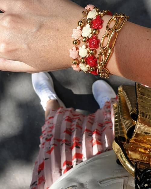 Bracelet WHITE TURTLES