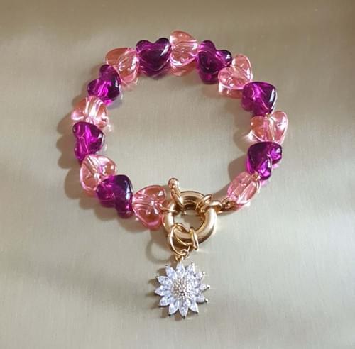 Bracelet SWAROVSKI FLOWER PINK
