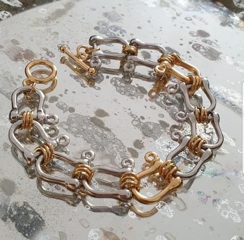Bracelet POSITANO OR ET ARGENT