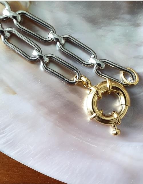 Bracelet TWISTÉ OR ET ARGENT