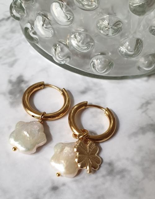 Boucles d'oreilles PERLES FLEUR