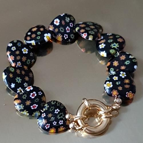 Bracelet MILLEFIORI noir