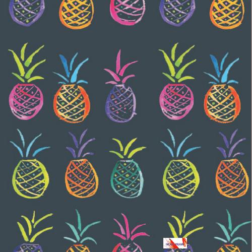 Indigo Prawn Pineapples iPhone / Smartphone Wallpaper