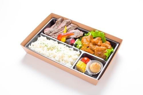 牛サーロインテーキ&タンドリーチキン弁当