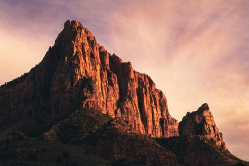 Zion Watchman At Sunset