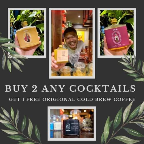Buy 2 Any Cocktails - Get 1 Free Original Cold Brew Coffee