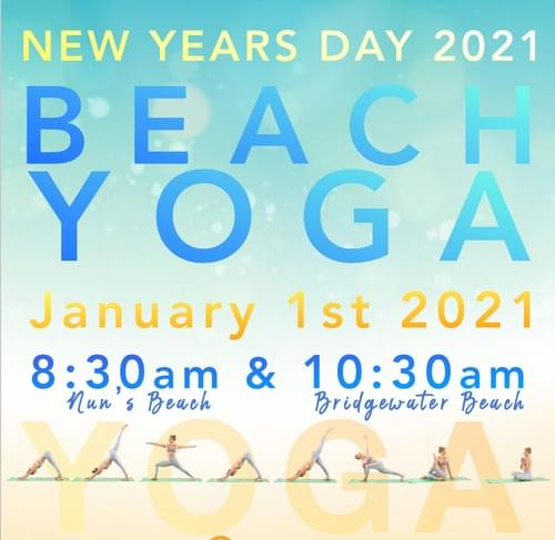 New Years Day YOGA on the beach