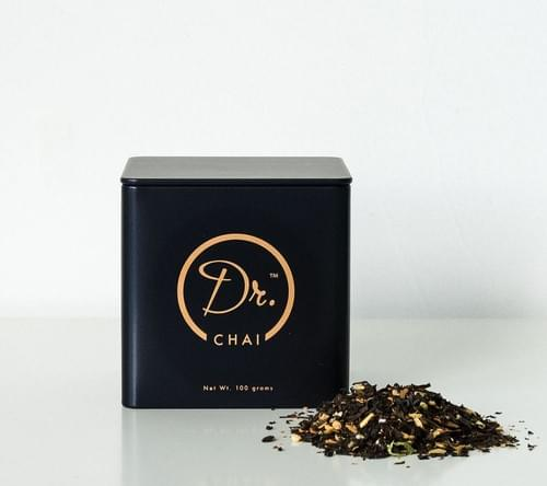 Small Dr CHAI in a tin