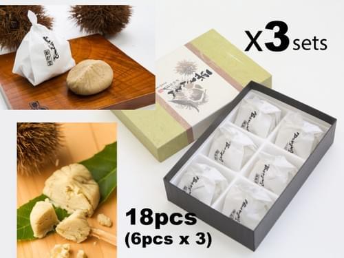 日式传统栗金饼(一盒六粒,三盒装,共十八粒)