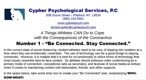 PDF E-Workbook - 4 Things Athletes CAN Do to Cope w/ The Consequences of the Coronavirus