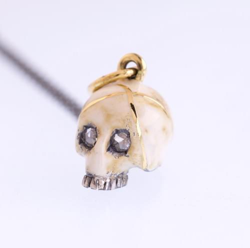 Kintsugi ivory skull