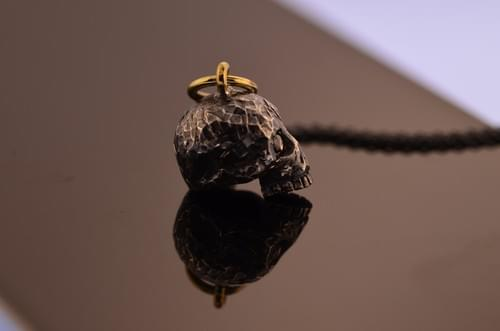 Textured Sterling skull