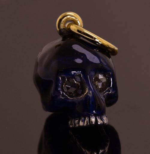 Enamelled Skull Pendent