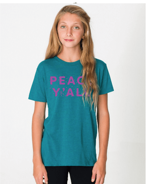 Peace Y'all T Shirt - Kids