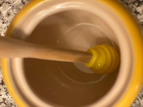 Yellow Le Creuset Honey Pot with Wand