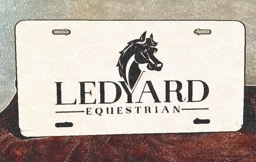 Ledyard Equestrian License Plate