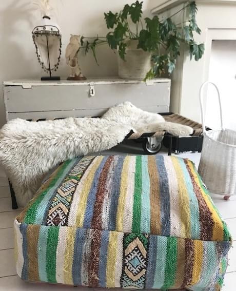 Striped Kilim Poef