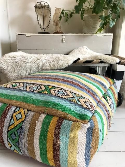Striped Kilim Poef