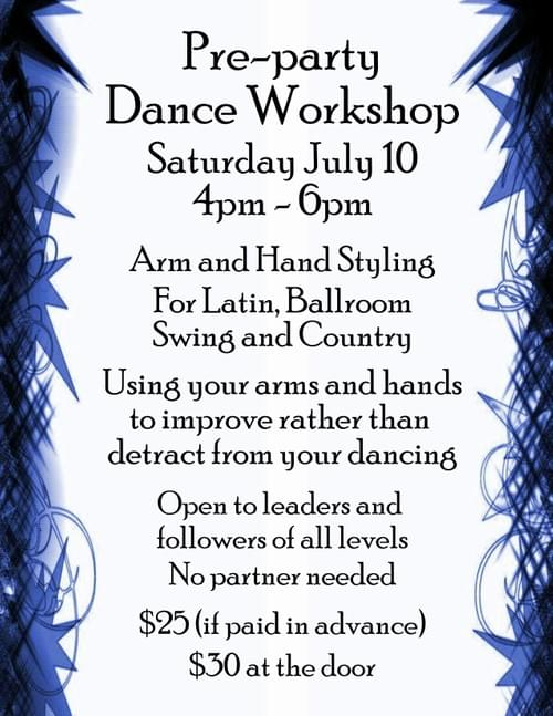 Special Workshop July 10th 4-6pm