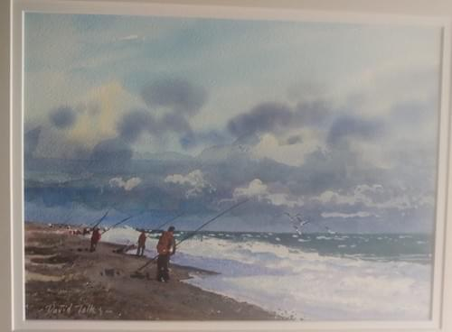 Beach fishing, North Norfolk