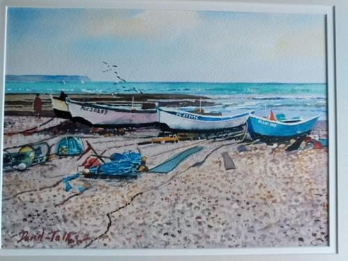 Fishing boats, Etretat