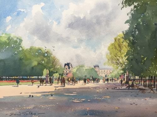 Stroll in Tuilleries Gardens, Paris