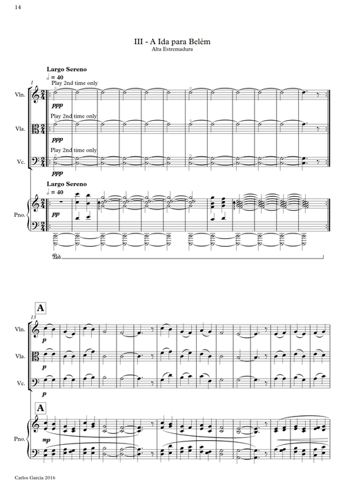 Quarteto com piano n.º 1 | Piano, Violino, Viola, Violoncelo
