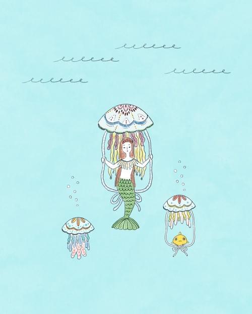 クラゲに乗る人魚・A4ポスター(税込)