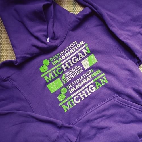 CLEARANCE - Purple Youth Hooded Sweatshirt