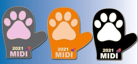 2021 MI Mitten Pin - Kitten Mitten / Paw Print