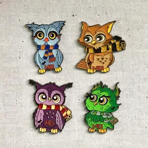 Owl Pin Set