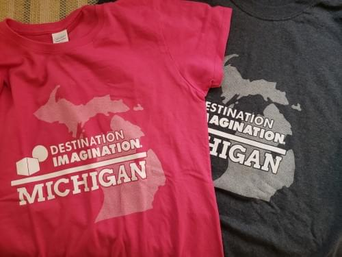 MI DI State Outline Shirts