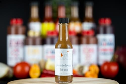The Hot Damn Sauce: Ginger Ghost Pepper Hot Sauce