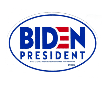 Biden Bumper Sticker - Oval