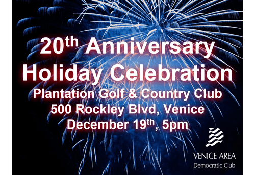 Member Reservations, 20th Anniversary & Holiday Celebration