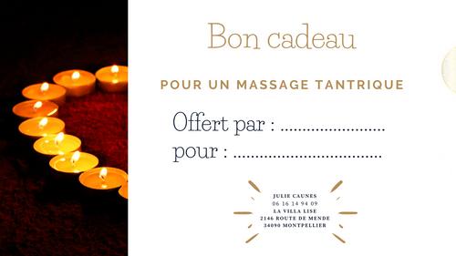 Bon cadeau - Massage tantrique - OFFRE SPECIALE FÊTES