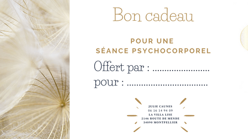 Bon cadeau - Séance Psychocorporel