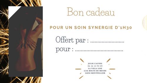 Bon cadeau Soin synergie - OFFRE SPECIALE FÊTES !