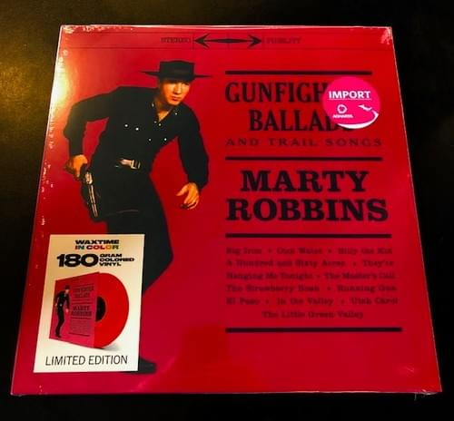Marty Robbins- Gunfighter Ballads And Other Trail Songs And More Of..LP On Blood Red Vinyl [IMPORT]