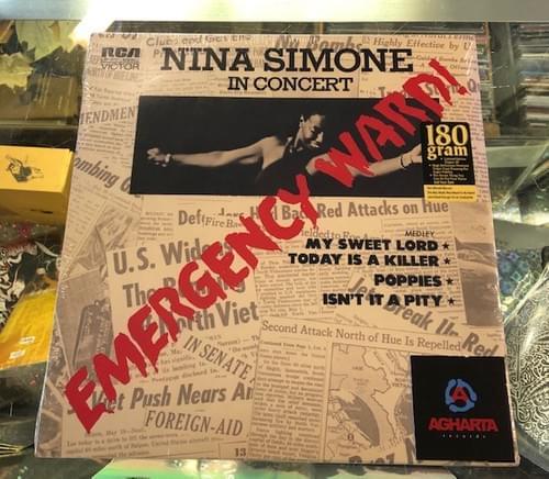 Nina Simone - Emergency Ward In Concert LP On Vinyl