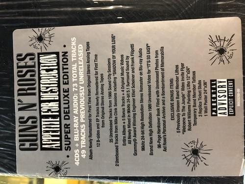 Guns N' Roses - Appetite For Destruction LP On Vinyl  [3 Versions]