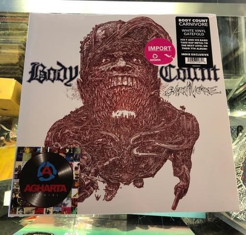 Ice-T's Body Count- Carnivore LP On White Vinyl [IMPORT]