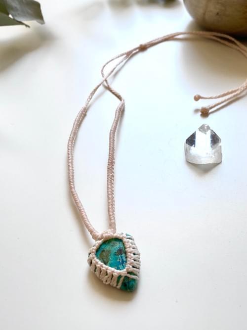 Azurite pendant